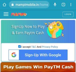 MampiMobile Refer Earn Free PayTM Cash