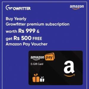 Growfitter Premium Free Amazon Voucher