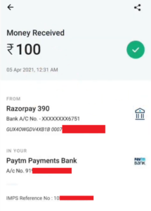 Dhiyo App Payment Proof