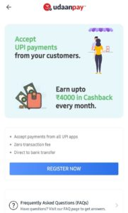 Tap on Menu and Tap on Udaan Pay Option.