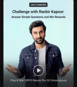 Flipkart Oppo Challenge With Ranbir Kapoor