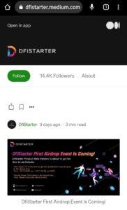 DfiStarter First Event Airdrop