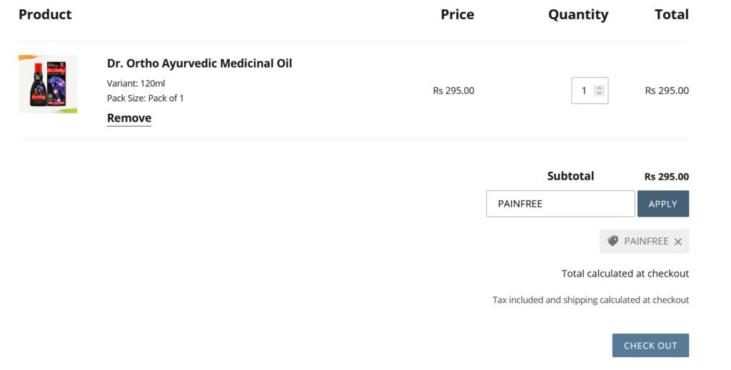 Dr Ortho Ayurvedic Medicinal Oil Free Sample