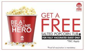 Miraj Cinemas Salted Popcorn Tub Free