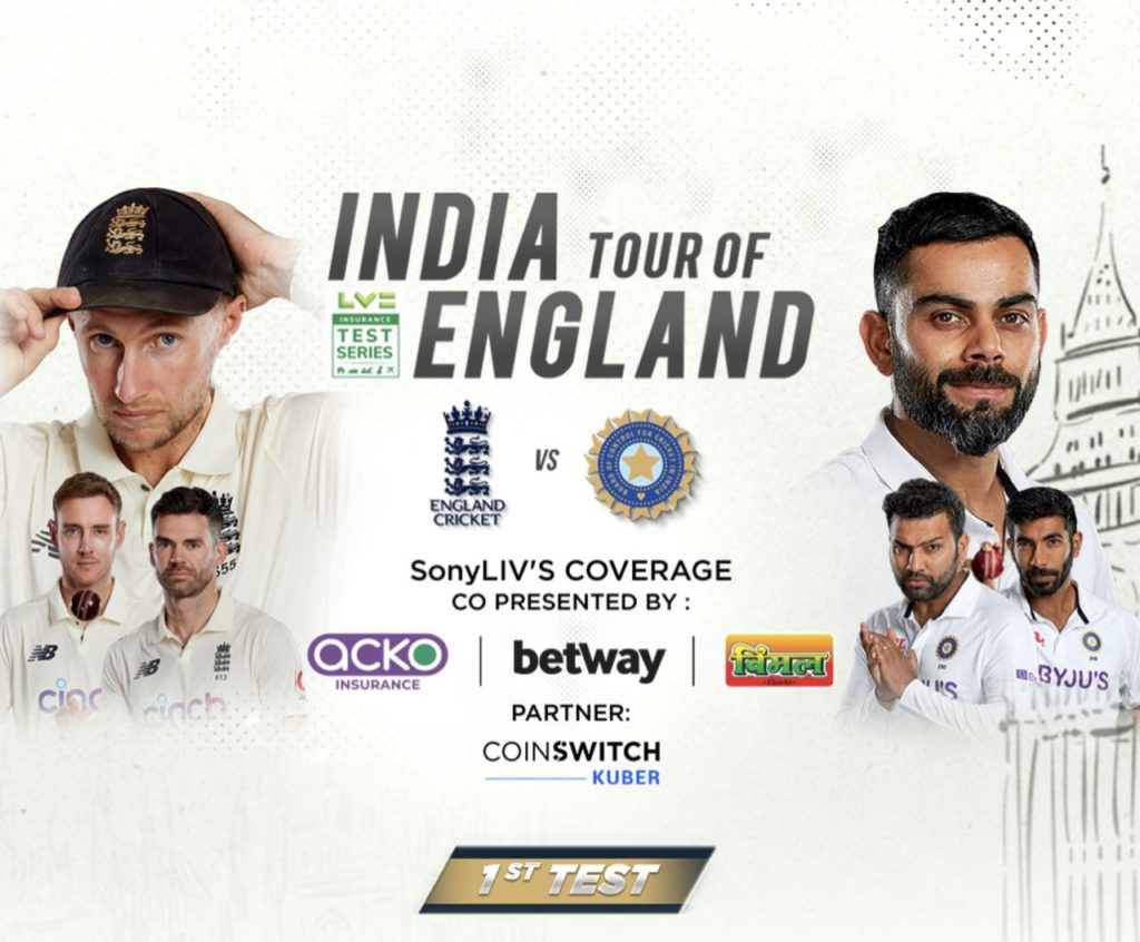 How To Watch India vs England Test Matches Free