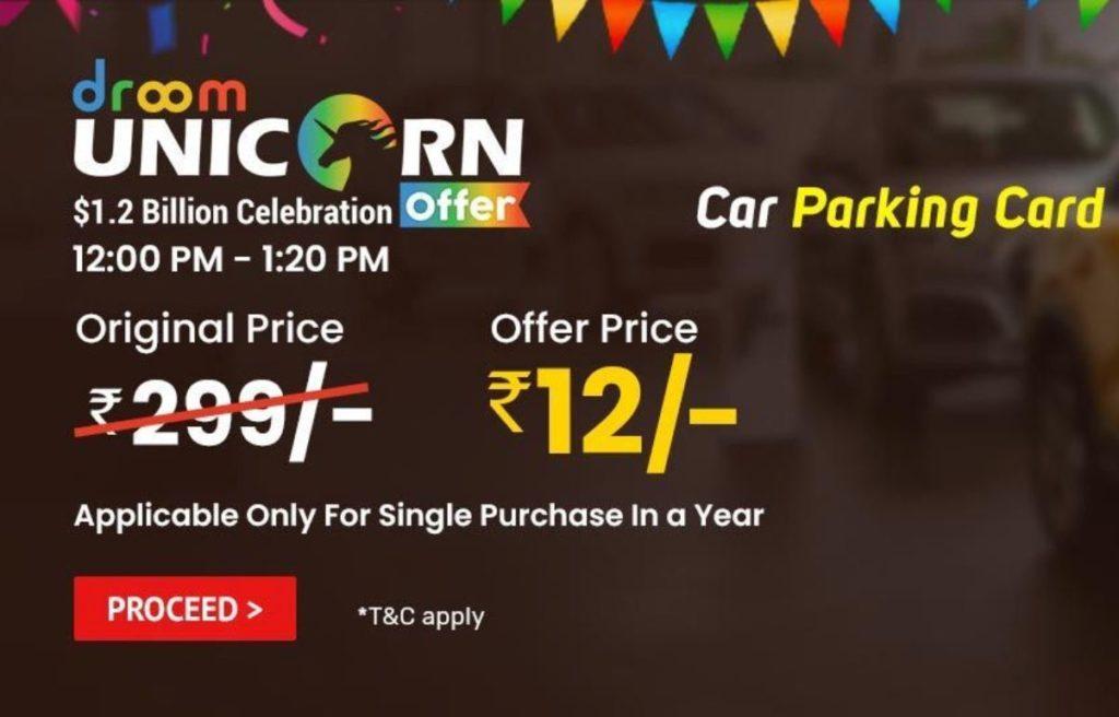 Droom Car Parking Card Sale
