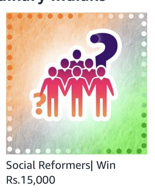 Amazon Social Reformers Quiz Answers