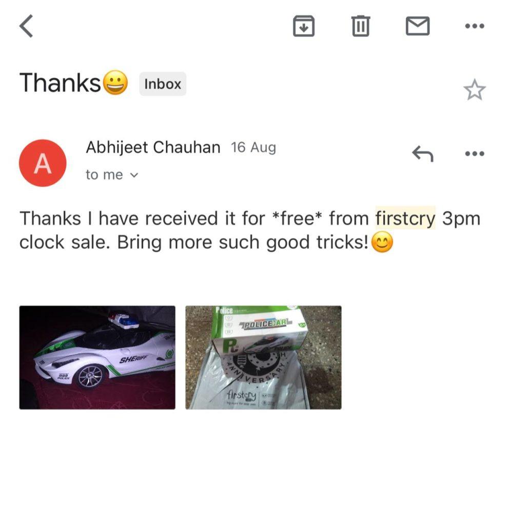FirstCry Offers - Free @ Three