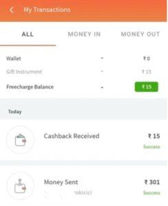 Freecharge UPI Cashback Offer