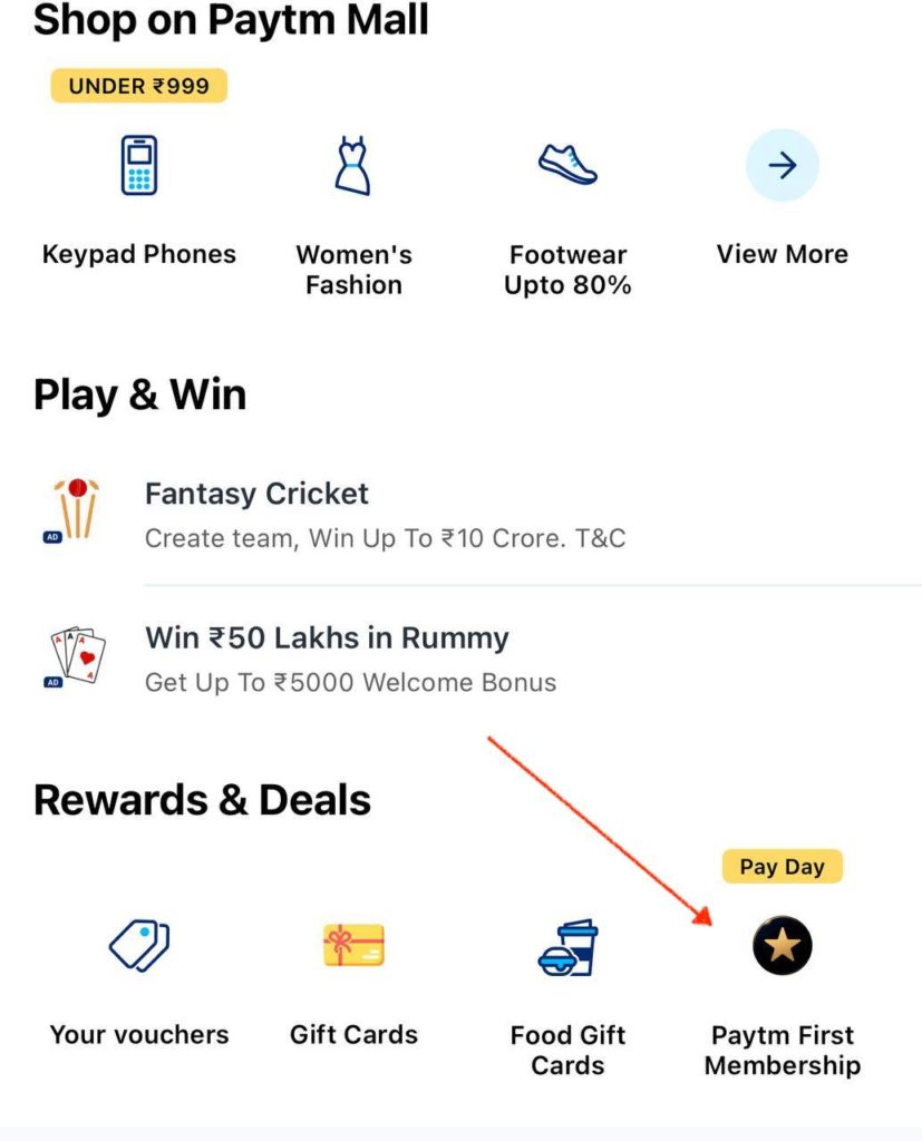 PayTM First Membership Almost For FREE