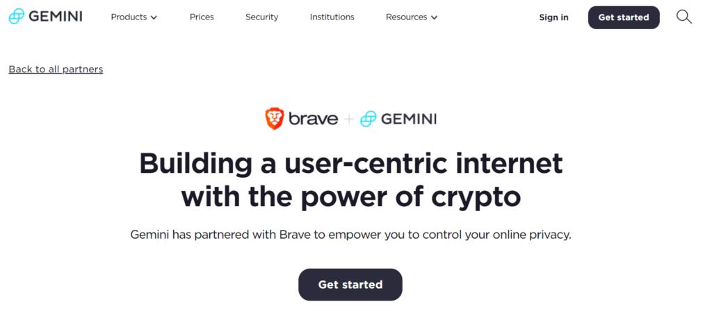 Brave Browser Gemini Exchange Offer