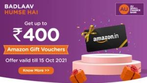 AU Bank Free Amazon Voucher Offer