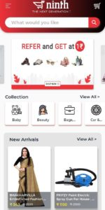Ninth Online Shopping App Refer Earn