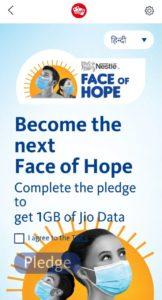MyJio Nestle Face Of Hope